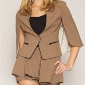 Line & Dot Batwing Tailored Jacket Cape Cape S New